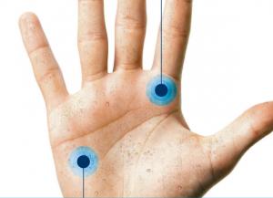 Wirkbereich Handfläche