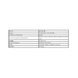 3D Hifu Ultraschall Daten Tabelle